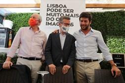 Rui Rio, Carlos Moedas e Chicão almoçaram juntos no Parque Mayer