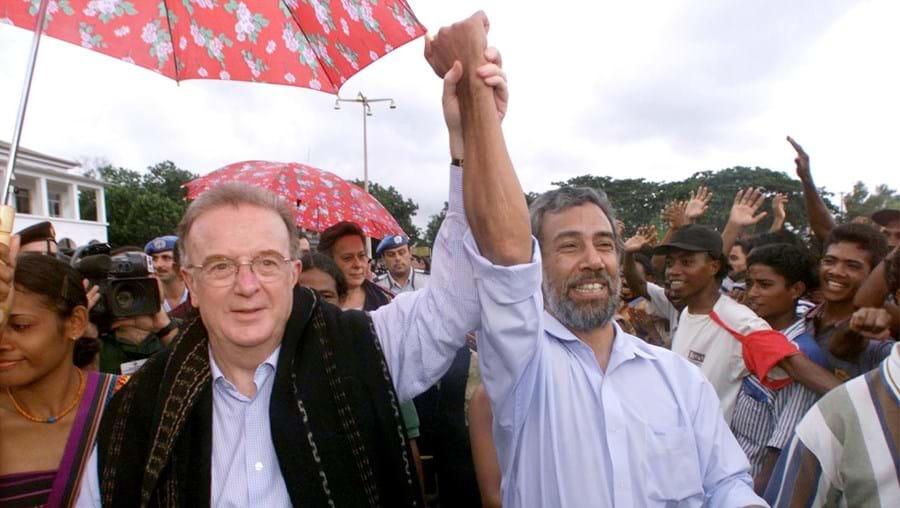 Jorge Sampaio e Xanana Gusmão