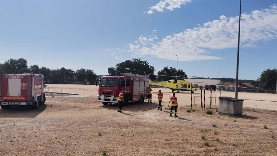 Incêndio em contentor provoca ferido grave em Odemira