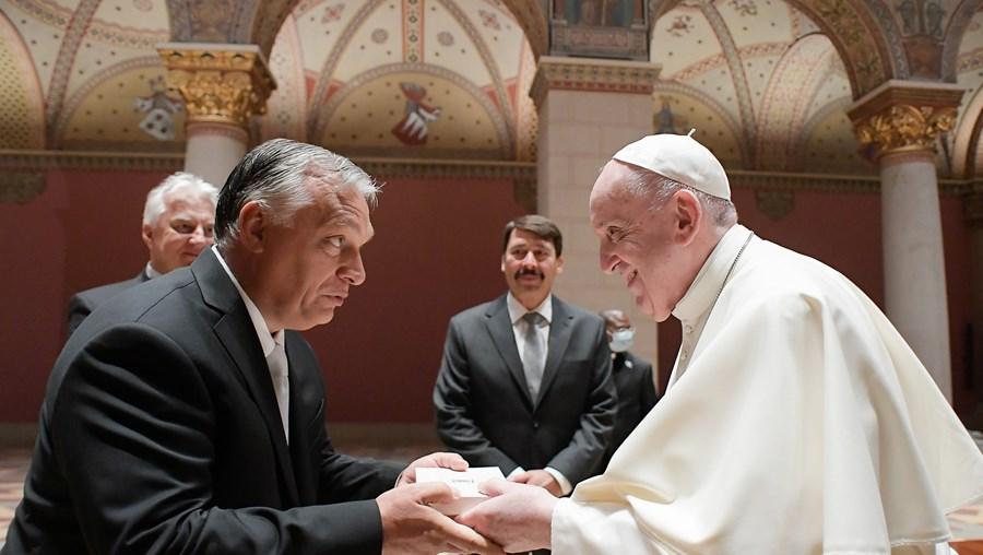 Francisco encontrou-se com o primeiro-ministro VIktor Orbán
