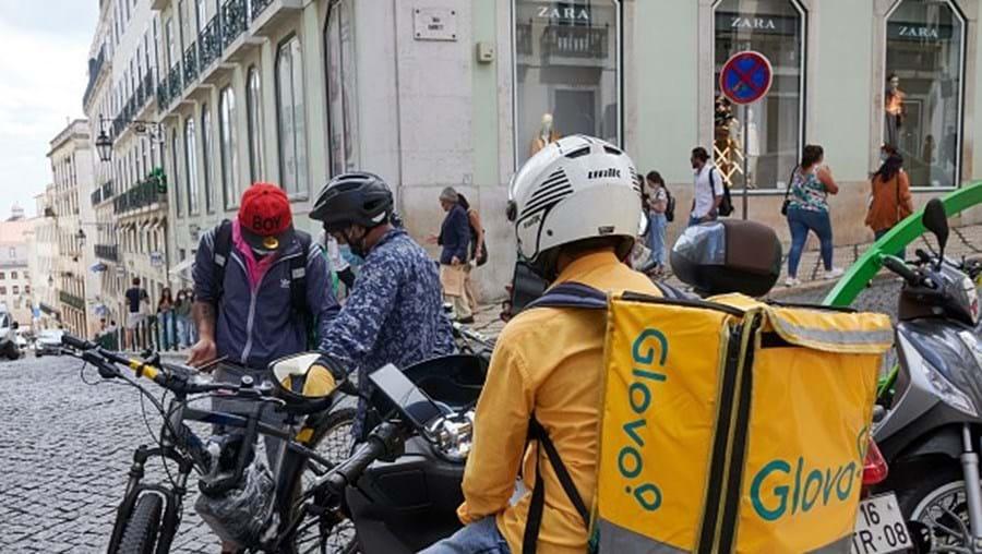 Estafeta na Glovo, em Lisboa