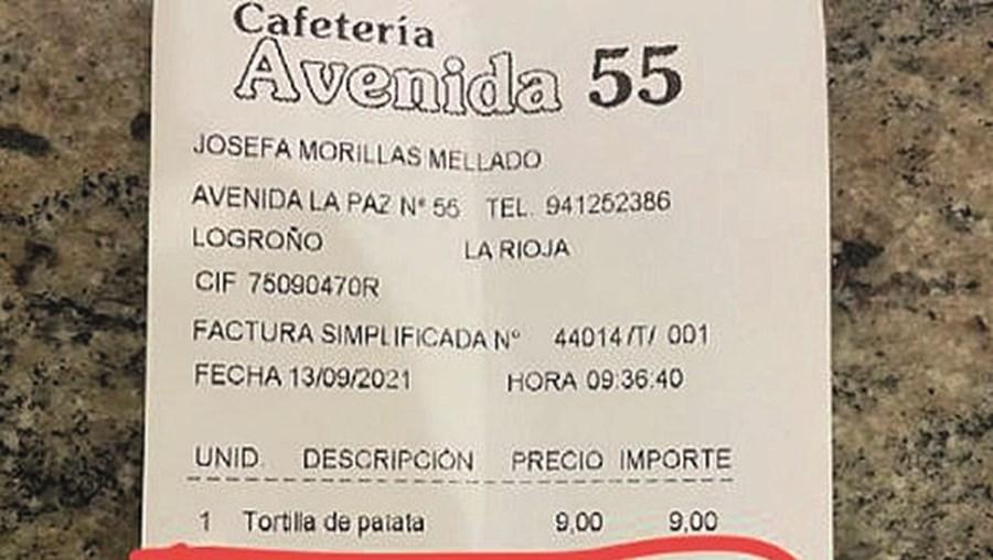 Cliente paga um euro por tirar a cebola de tortilha