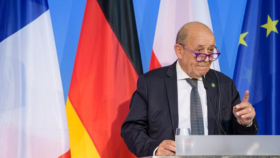 Chefe da diplomacia francesa, Jean-Yves Le Drian