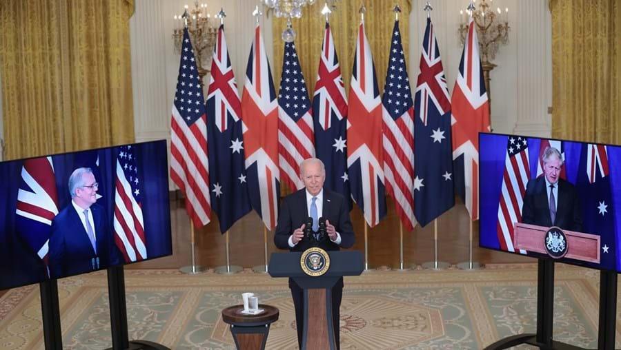 Iniciativa foi anunciada em videoconferência conjunta por Joe Biden, Boris Johnson e Scott Morrison