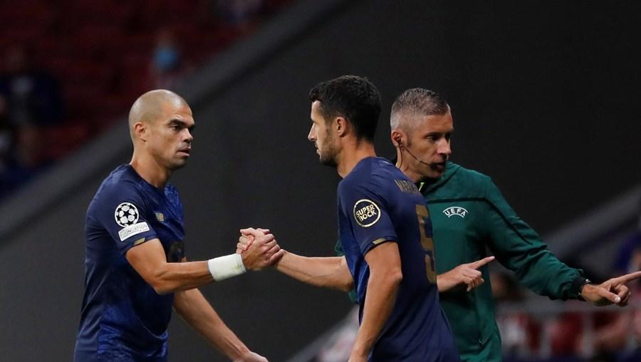 Pepe foi substituído por Marcano em Madrid, onde fez dupla com Mbemba