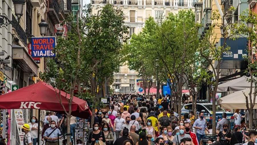 Ruas de Madrid durante a pandemia de Covid-19