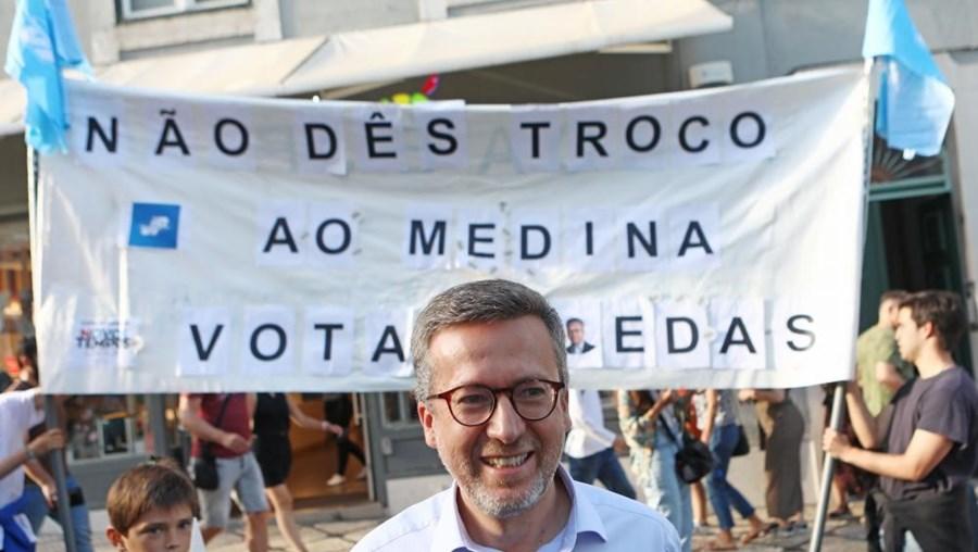 """Carlos Moedas, candidato à Câmara Municipal de Lisboa pela coligação """"Novos Tempos"""" (PSD/CDS-PP/PPM/MPT/Aliança)"""