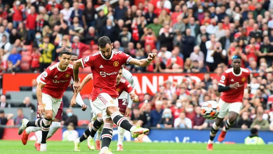 Bruno Fernandes desperdiçou o segundo penálti ao serviço do Manchester United num total de 23 tentativas