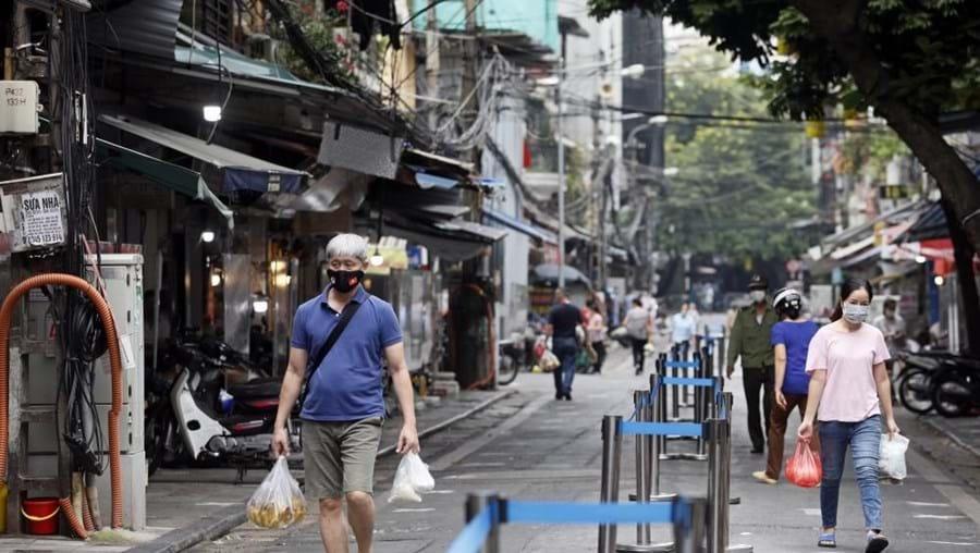Rua de Hanoi, no Vietname