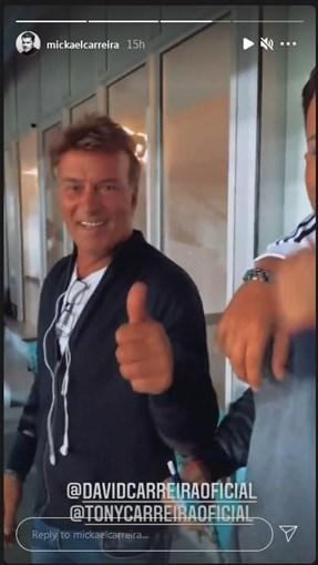 Tony Carreira festeja feito de Ronaldo no estádio