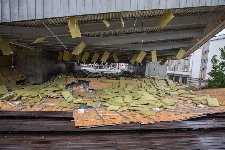Centro de Cultura Contemporânea, em Castelo Branco, ficou com a cobertura destruída