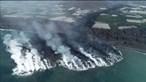 Imagens de drone mostram rasto de destruição deixado por rio de lava negra em La Palma