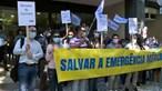 Técnicos do INEM protestam em Lisboa e exigem melhores salários. Veja o vídeo