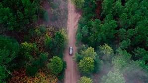 É preciso coragem para fazer este caminho ao volante de um Mercedes