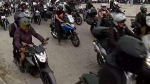 Cerca de 3 mil motociclistas manifestaram-se em Lisboa contra as inspeções obrigatórias