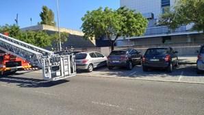 Incêndio no hospital CUF no Parque das Nações em Lisboa