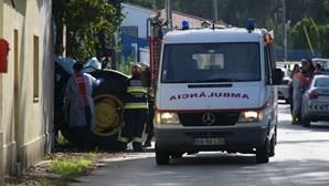 Viga de betão cai e mata condutor de trator em Leiria
