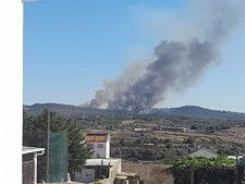 Incêndio de grandes dimensões em Sintra