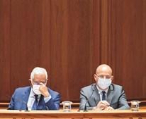 António Costa, primeiro-ministro, e João Leão, ministro das Finanças, participaram na reunião do Conselho de Ministros que aprovou o Orçamento do Estado para 2022