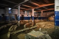 Construção de um hipermercado revelou as ruínas da antiga sala de espetáculos.