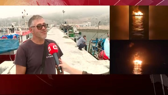Pescador salvou os 13 tripulantes de barco em chamas em Sesimbra