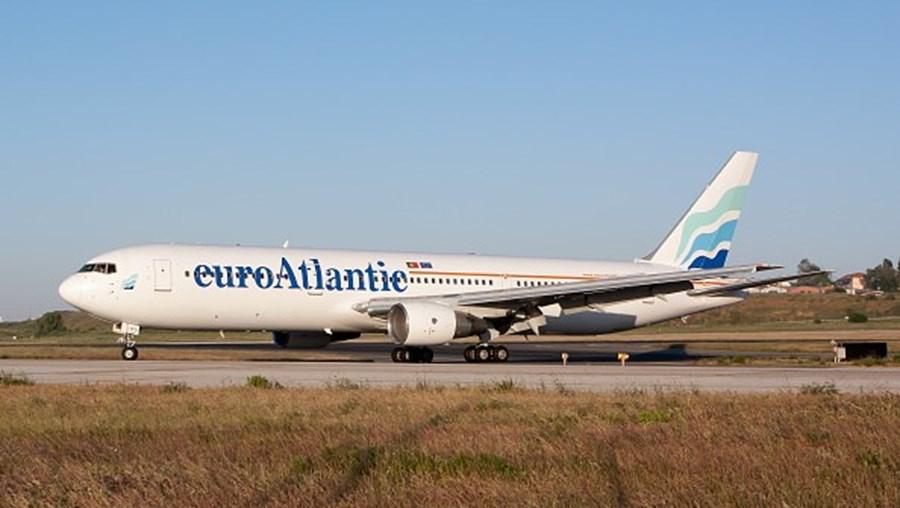 Avião da companhia aérea EuroAtlantic