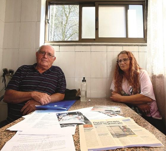 António Justo e Luísa Lourenço levaram à boca uma garrafa de água com soda cáustica, em setembro de 2018.